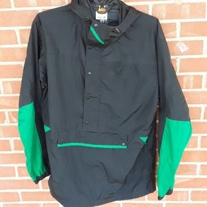 REI hooded windbreaker raincoat jacket size large